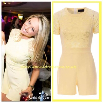 dress yellow playsuit summer outfits