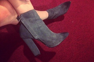 shoe high heels boots grey shoes pointy heels pointy zipper