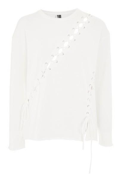 Topshop sweatshirt cream sweater