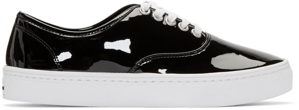 Junya Watanabe Black Patent Leather Sneakers