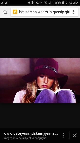 hat blake lively floppy hat