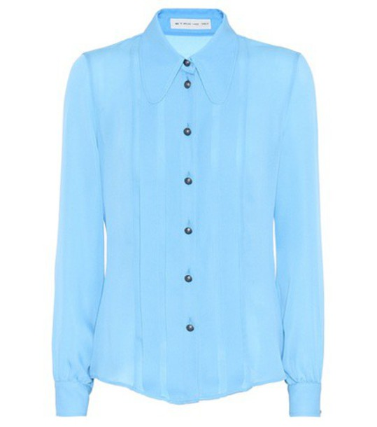 ETRO shirt silk blue top
