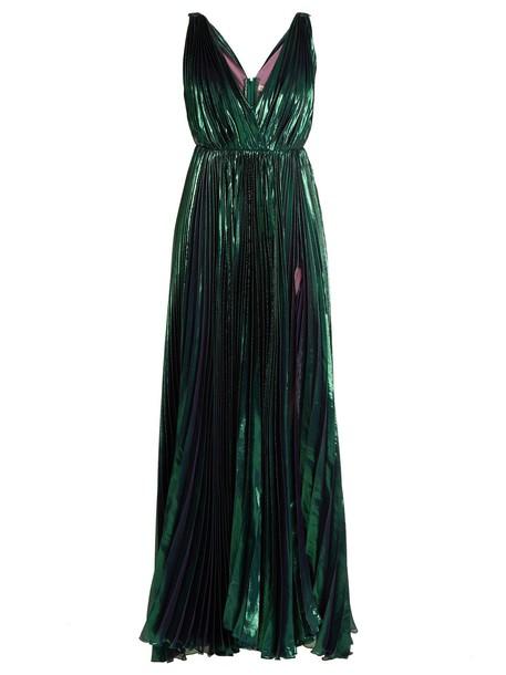 Maria Lucia Hohan gown pleated dark green dress