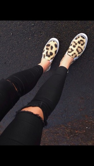 shoes sneakers leopard print style