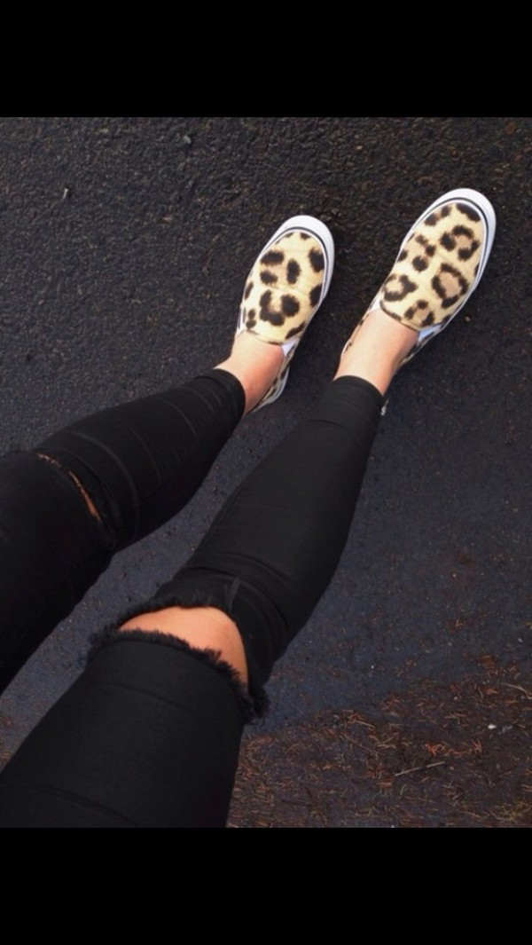 shoes sneakers leopard print style cute