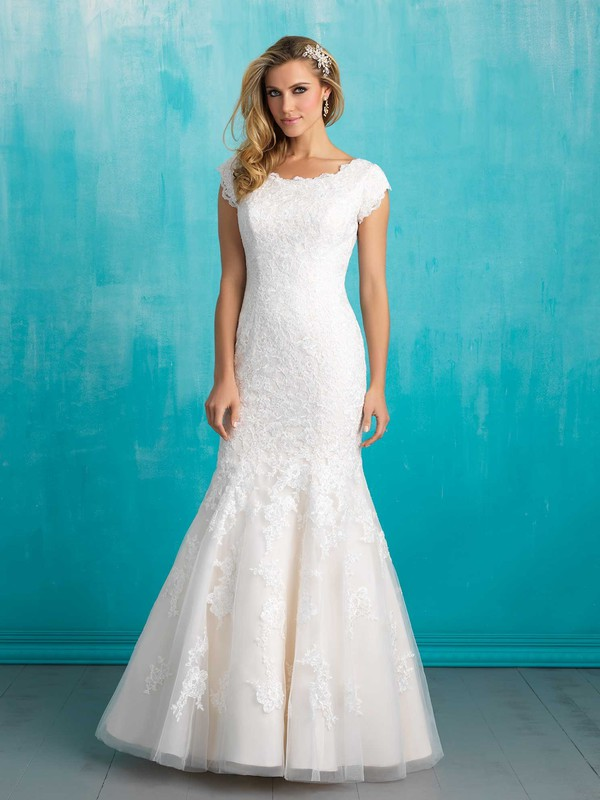 Wishesbridal Bateau Neck Court Train Lace Trumpet #Mermaid ...