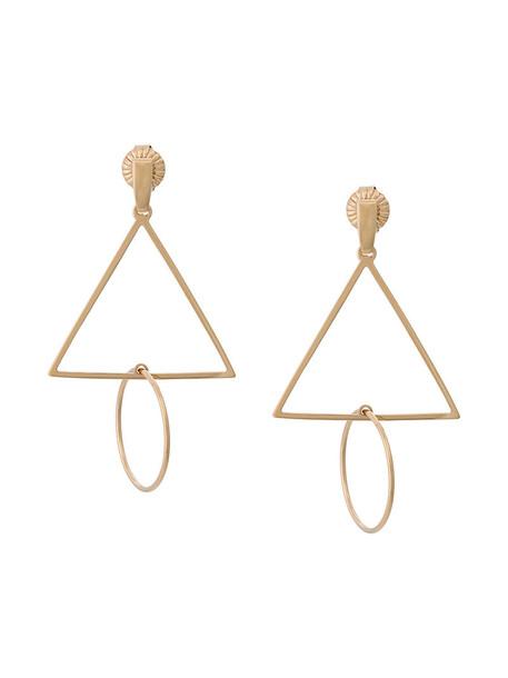 Natasha Schweitzer women earrings gold silver grey metallic jewels