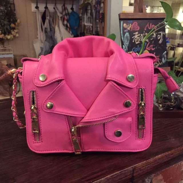 Muchskino moto jacket shoulder bag (3 colors available) – glamzelle
