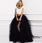 skirt,black,fashion,girly,cute,maxi,tulle skirt,style,tutu,musheng