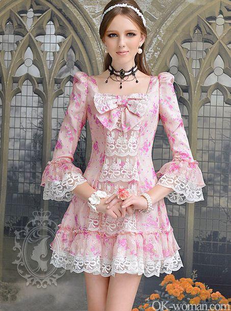 Dress Pink Pink Dress Posh Pastel Long Short Cute