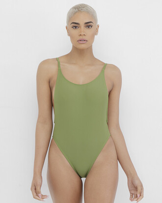 swimwear one piece swimsuit olive green olive green swimwear