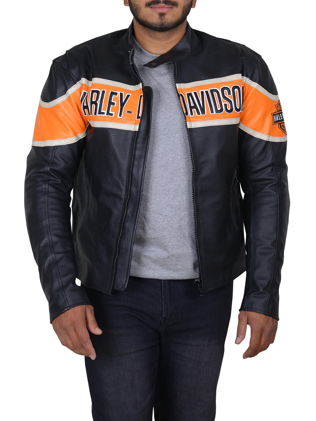 Dashing Black Biker Leather Jacket   Men's Jacket   MauveTree