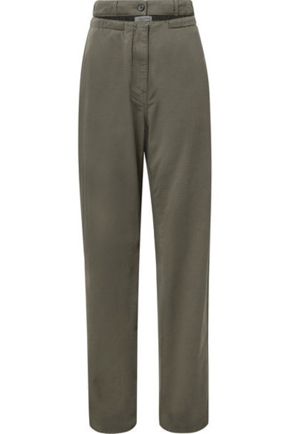 Valentino pants cotton green army green