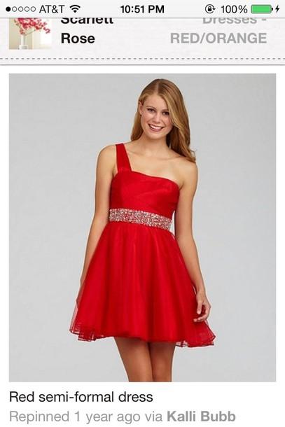 Dress Red Semi Formal Dress Wheretoget