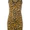 Dsquared2 - animal print mini dress - women - polyester/viscose - s, brown, polyester/viscose