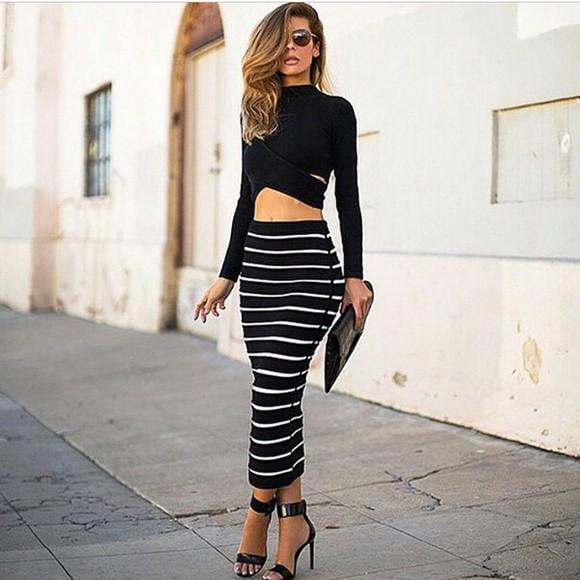 stripes striped skirt
