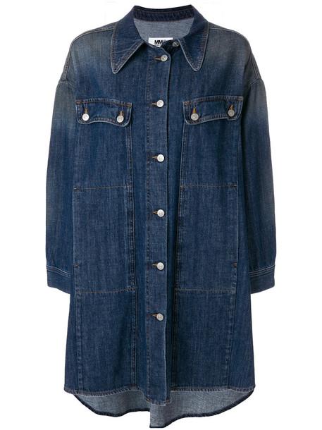 Mm6 Maison Margiela jacket denim women cotton blue