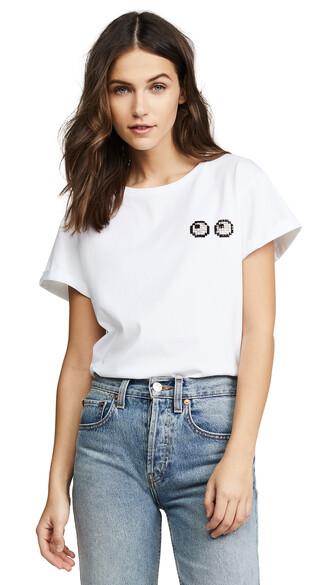 t-shirt shirt eyes white top
