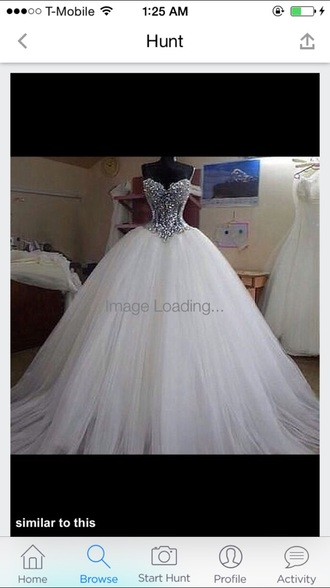 dress diamonds white dress quinceanera dress