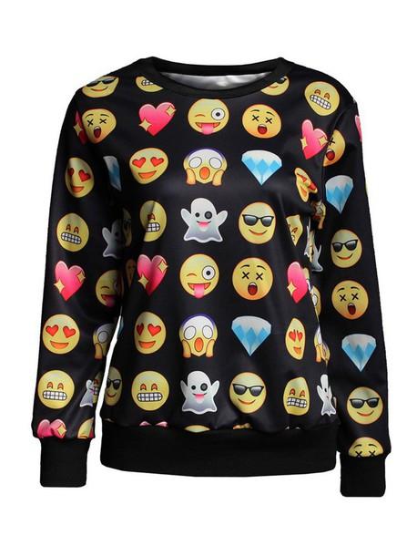 sweater emoji print emoji print emoji print emoji pants shirt t-shirt women menswear boys/girls blouse