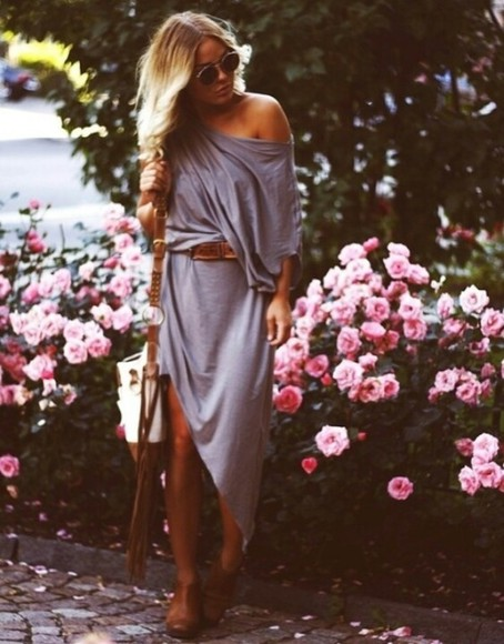 jersey tshirt oversized dress slouchy assymetrical slouchy dress