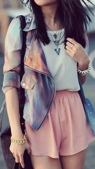 jacket chiffon galaxy print