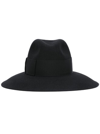 fur women classic fedora black hat