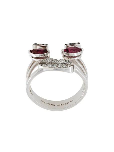 Delfina Delettrez women embellished ring gold grey metallic jewels