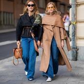 jeans,boyfriend jeans,black jacket,coat,handbag,sunglasses,silk scarf,earrings