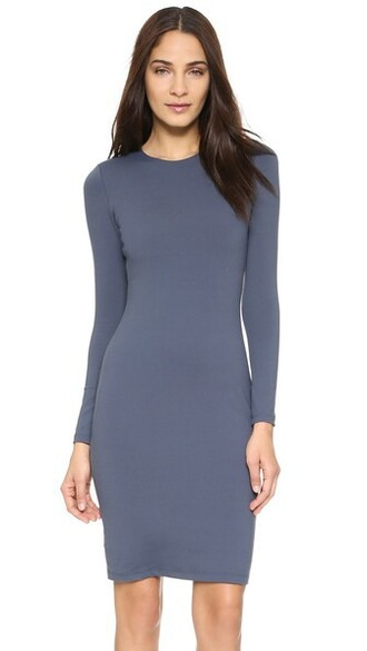 dress long sleeve dress long charcoal