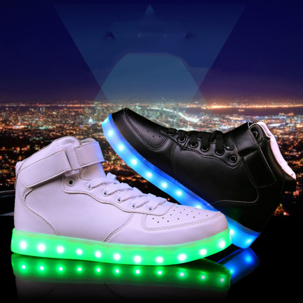 online retailer e6984 4c86f shoes led shoes light up shoes adult led shoes light shoes led women shoes  black led