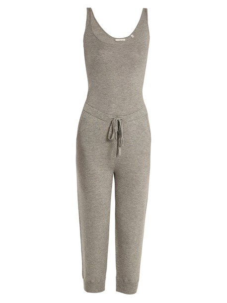 jumpsuit wool grey