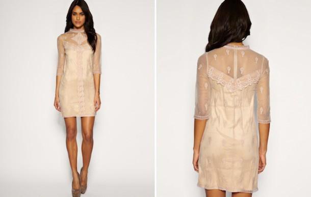 dress monique lhuillier lace dress