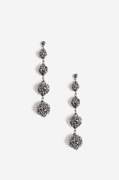 Topshop ball earrings brown jewels
