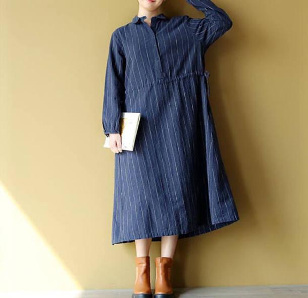 dress long striped dress maxi dress