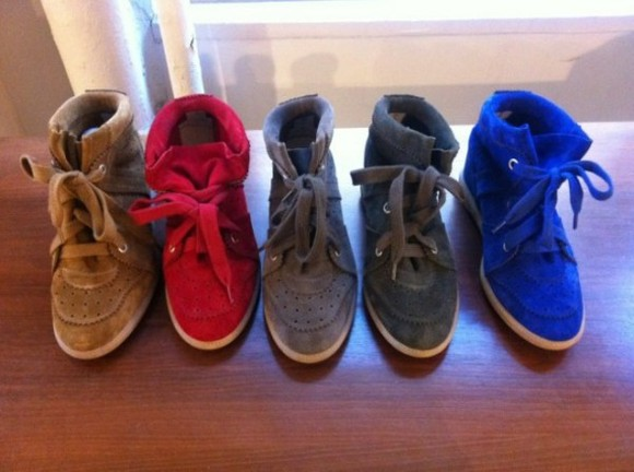 shoes isabel marant sneakers bobby red