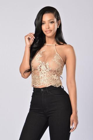 Opulence Top - Gold | Fashion Nova