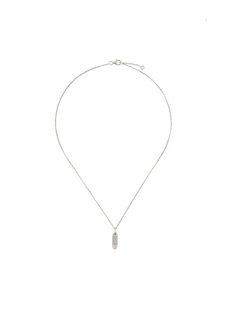 mini women bang necklace gold white grey metallic jewels