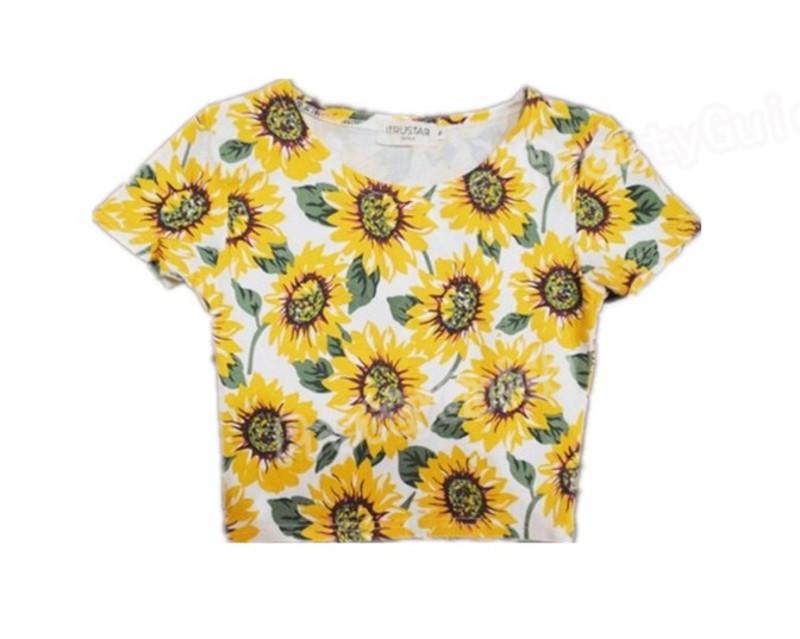 , sunflower crop top  $28