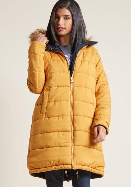 TSJKX3180 parka rock style navy mustard coat