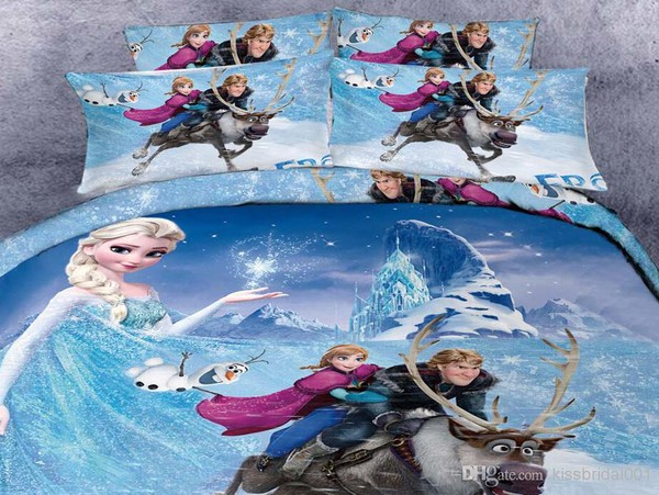make-up 3d bedding sets beddingsets bedding flat sheet pillow cotton kids fashion 2015 frozen bedding