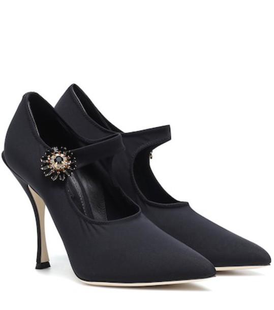 Dolce & Gabbana Embellished Mary Jane pumps in black