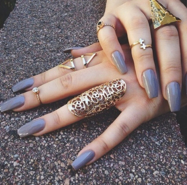 jewels ring ring jewelry jewelry knuckle ring rings and tings gold ring gold triangle nail polish
