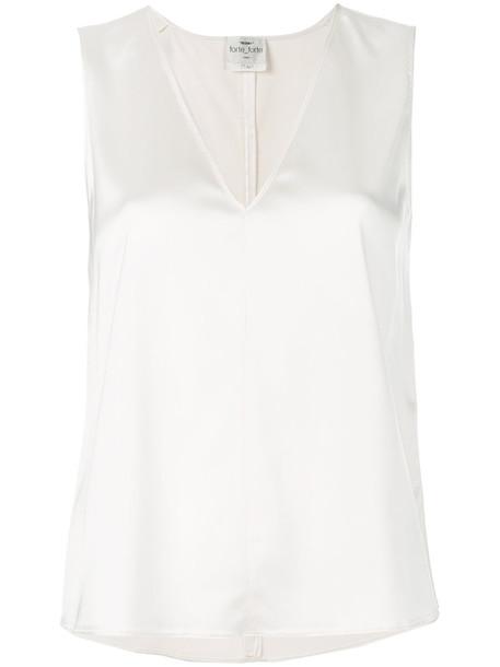 Forte Forte top sleeveless women white