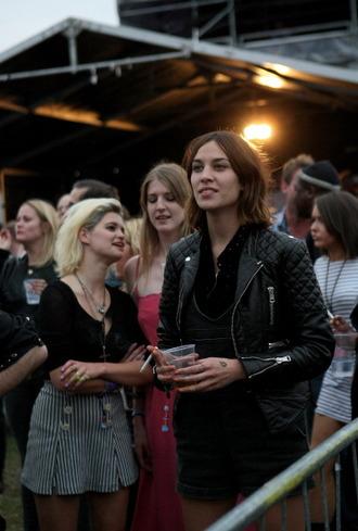 black jacket leather jacket alexa chung grey jacket white jacket festival