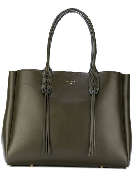Lanvin - fringed shopper tote - women - Leather - One Size, Brown, Leather