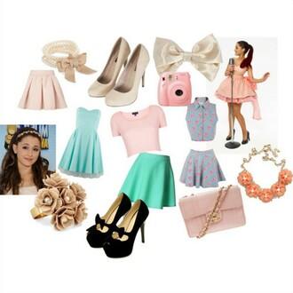 dress tumblr sweet cute ariana grande tumblr outfit bag