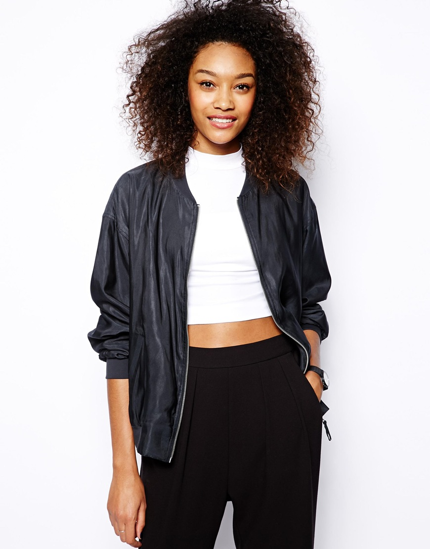 Monki Lightweight Bomber Jacket at asos.com
