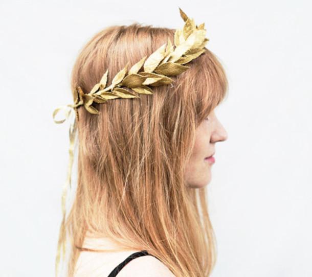 gold leaf headband headband gold headband crown wedding accessories