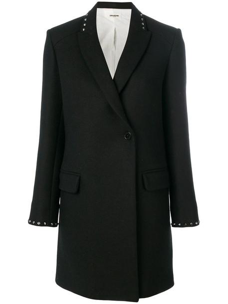 Zadig & Voltaire coat women cotton black wool